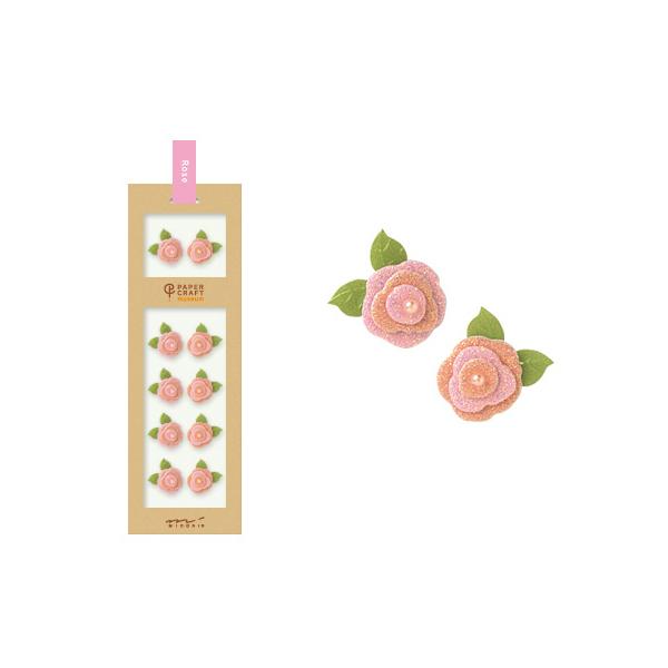 PCM紙藝博物館-造型貼紙-玫瑰A