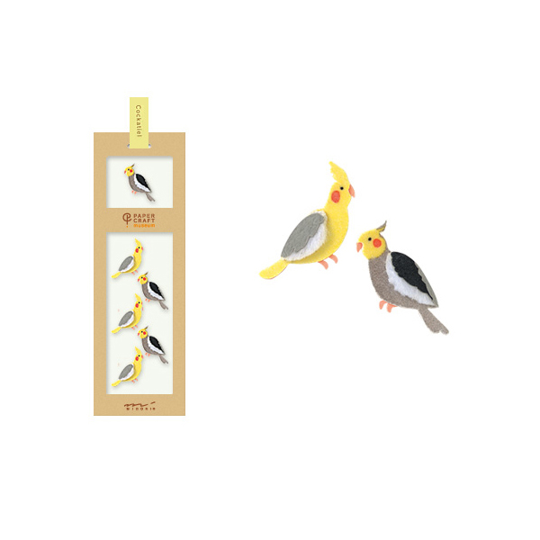 PCM紙藝博物館-造型貼紙-雞尾鸚鵡