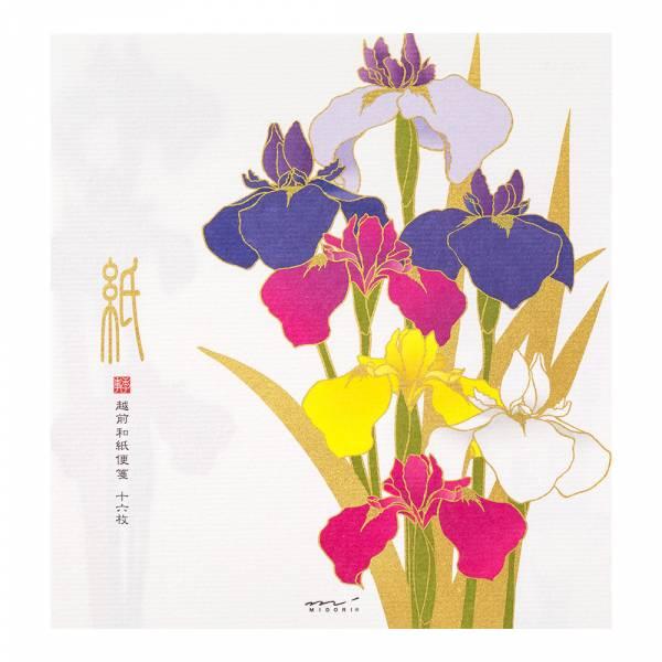 初夏紙系列-絹印鳶尾花