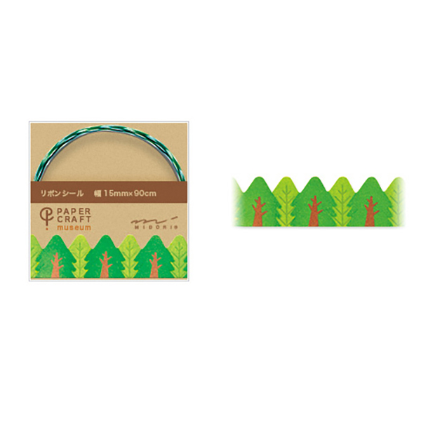 PCM紙藝博物館-緞帶貼-樹木