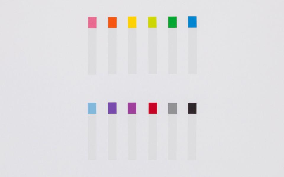 細長型標籤貼12色