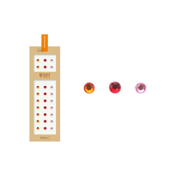 PCM紙藝博物館-造型貼紙-萊茵石紅