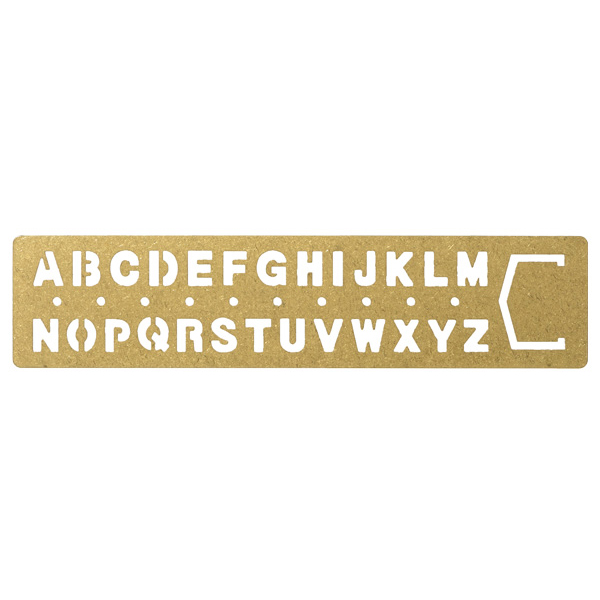 midori 黃銅系列-字母描字規