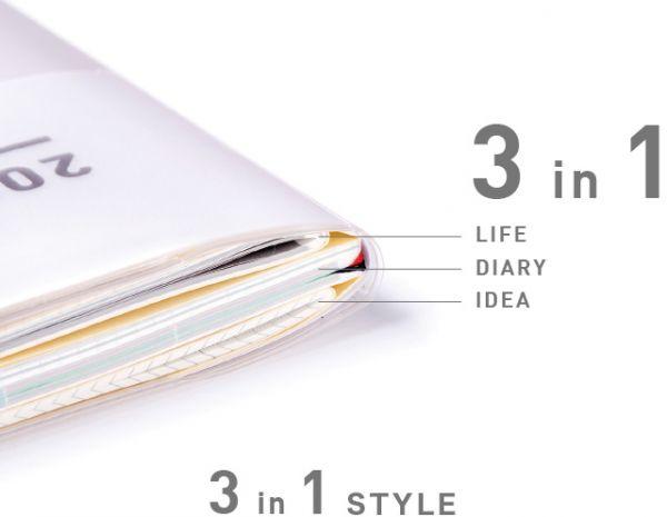 JIBUN手帳2022 3分冊 Diary Idea Life 系列