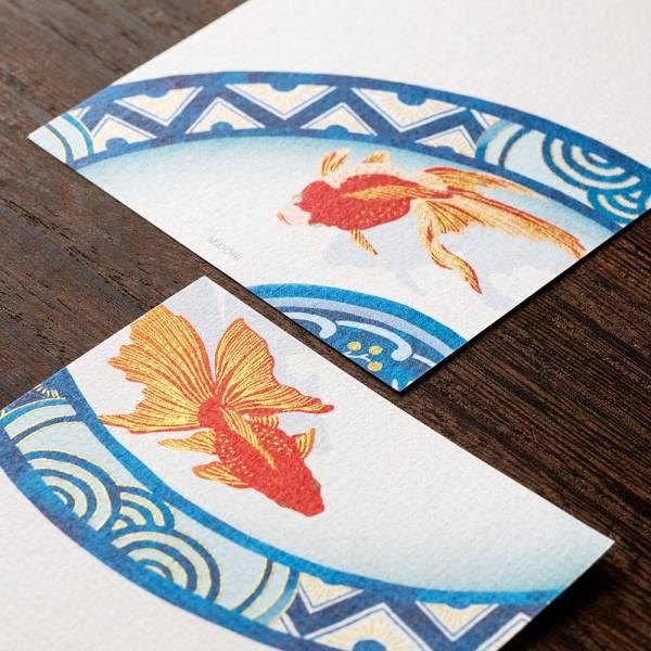 盛夏紙系列-絹印金魚