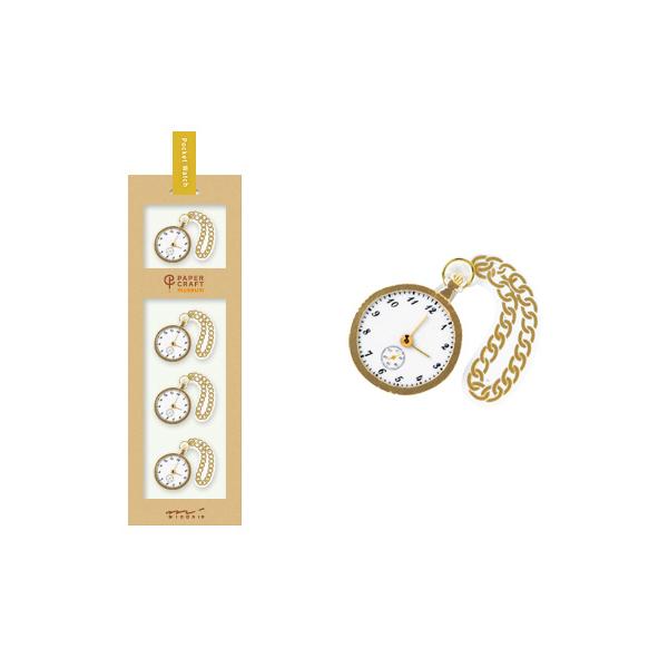 PCM紙藝博物館-造型貼紙-懷錶