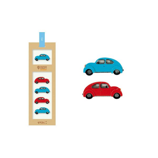 PCM紙藝博物館-造型貼紙-車子