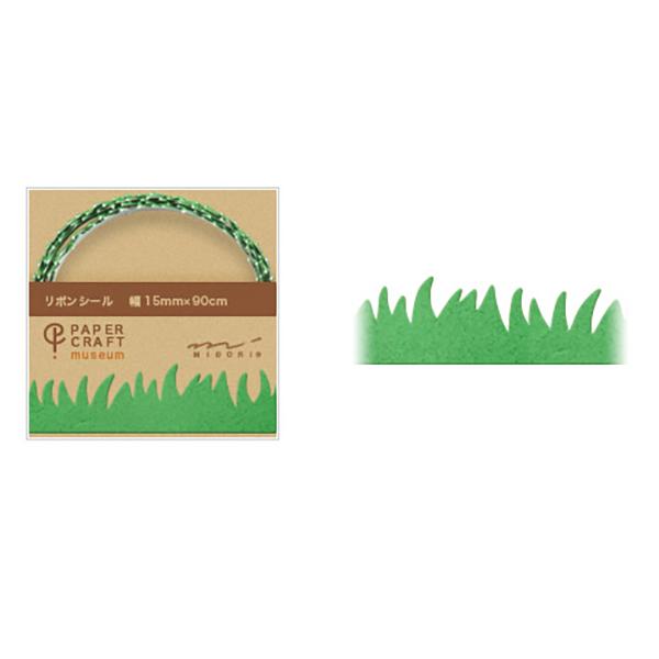 PCM紙藝博物館-緞帶貼-小草