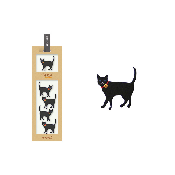 PCM紙藝博物館-造型貼紙-黑貓