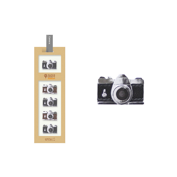 PCM紙藝博物館-造型貼紙-照相機
