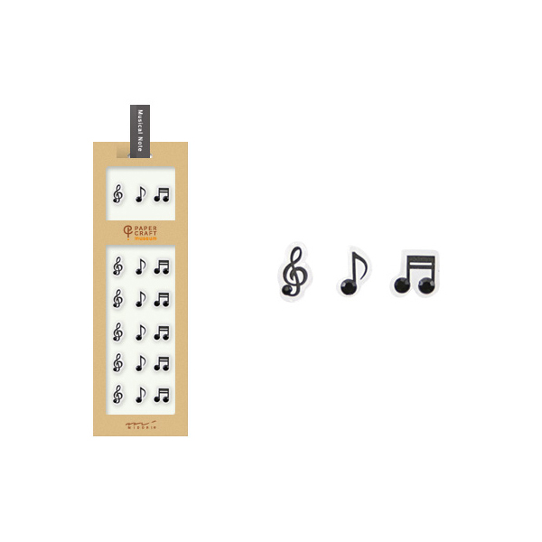 PCM紙藝博物館-造型貼紙-音符