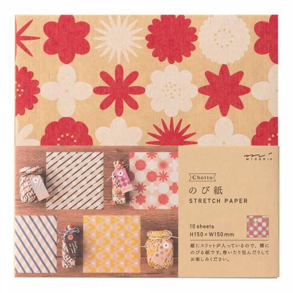 Chotto花紋彈性包裝紙