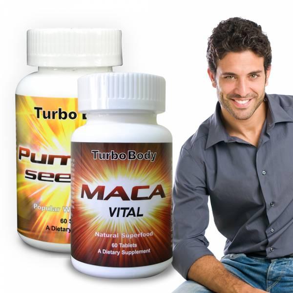 Turbo Body-魅力熟男組-精益猛強效瑪卡錠+南瓜籽油