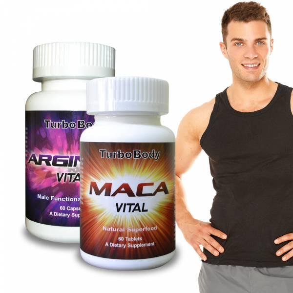 Turbo Body-男子漢威風雙效組-精益猛強效瑪卡錠+精胺酸