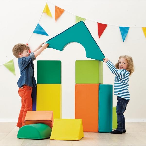 【JAKO-O】大型柔軟建築積木組 積木,紙積木,益智玩具,認識數字