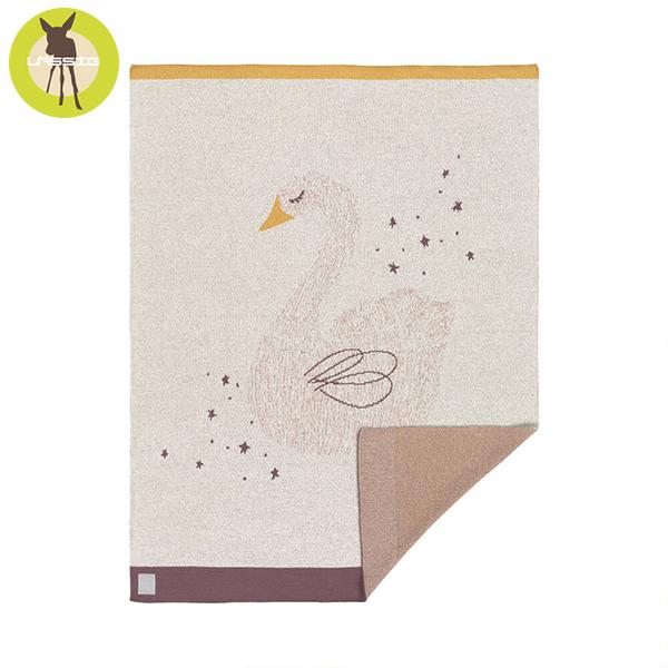 德國LASSIG-有機棉嬰兒毯-天鵝 有機棉毯,德國lassig