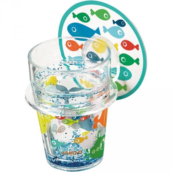 【JAKO-O】海底世界魚兒壁貼杯掛架(可重複黏貼) 德國,JAKO-O,杯架,杯子,浴室,生活居家