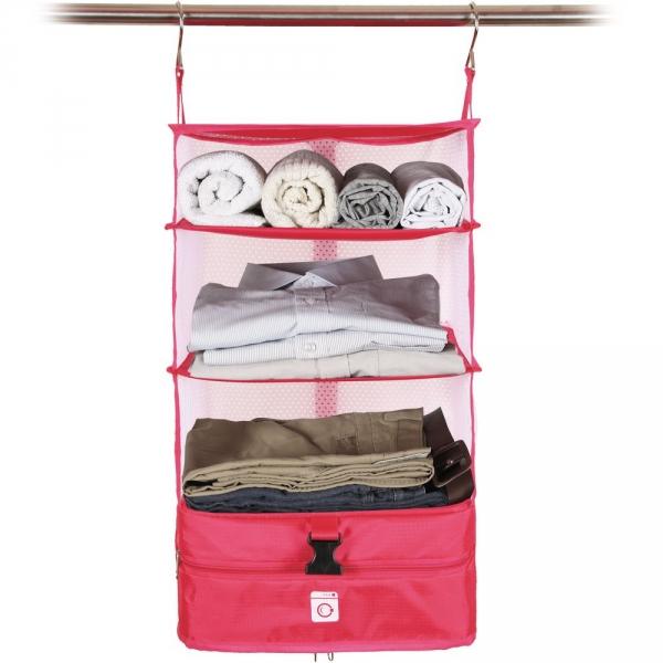 【JAKO-O】行李分層收納掛架(小)-粉色 置物架,架子,德國,JAKO-O,行李分層收納掛架,行李箱