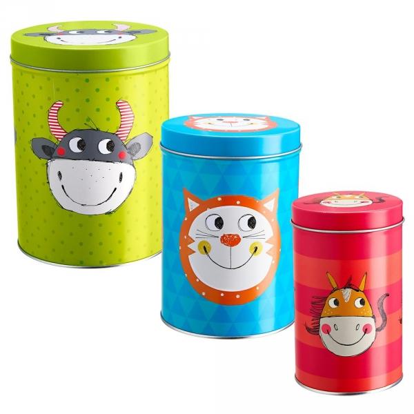 【JAKO-O】鐵製收納罐3入組 罐子,收納罐,食品
