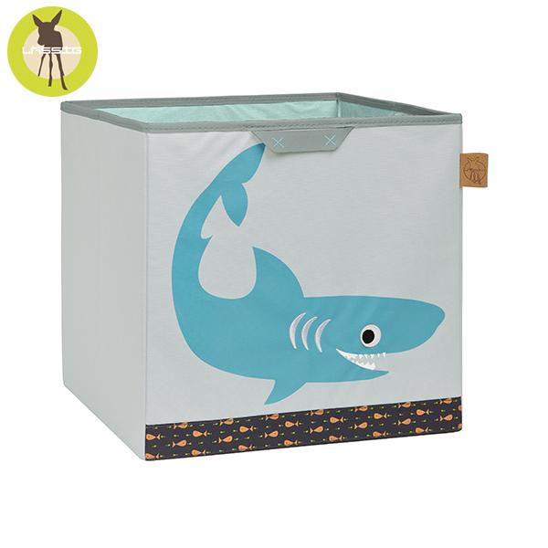 德國LASSIG-玩具儲物箱-小鯊魚 玩具收納,德國lassig