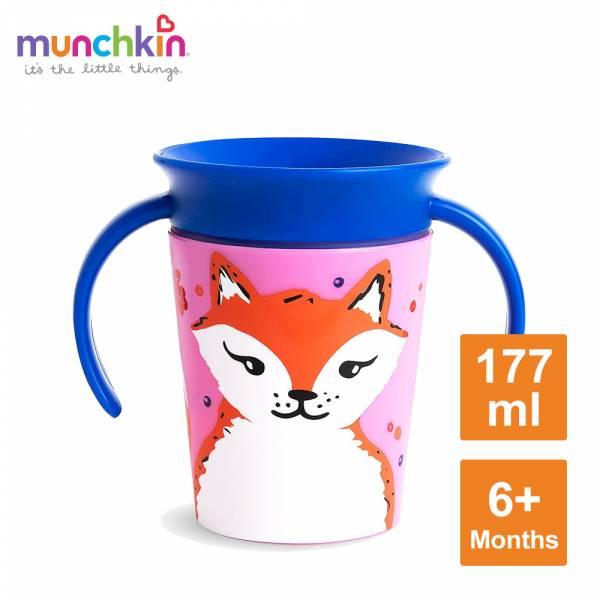 360度繽紛防漏練習杯177ml-狐狸 水杯 訓練杯 喝水 幼童 動物