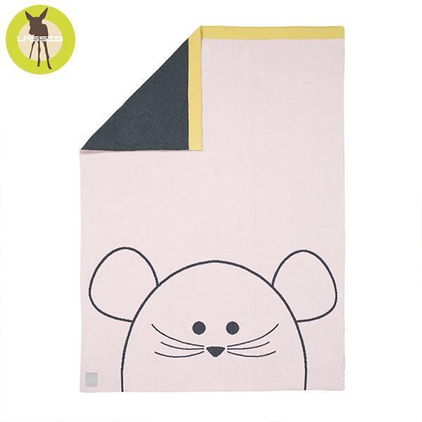 德國LASSIG-有機棉嬰兒毯-俏皮鼠 有機棉毯,德國lassig