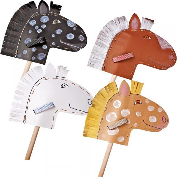 【JAKO-O】DIY手作組-馬頭棍(4入) 手作,創作,兒童勞作,
