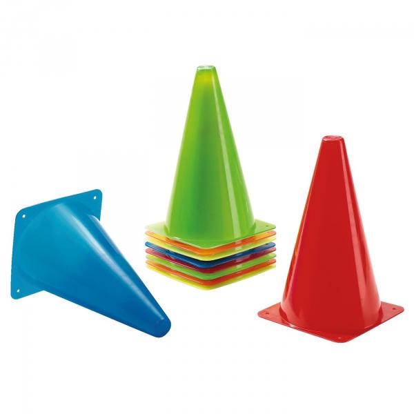 【JAKO-O】繽紛三角錐(10入) JAKO-O,JAKO-O,幼兒運動,直排輪,手眼協調,平衡感,滑板車,滑步車,競賽,遊戲,團康