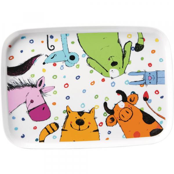 【JAKO-O】歡樂動物托盤 餐盤,盤子,餐具