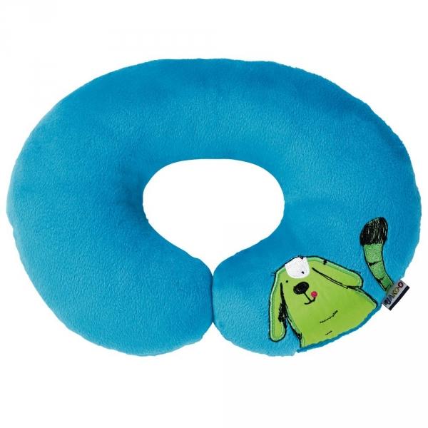 【JAKO-O】動物兒童頸枕-藍 德國,JAKO-O,一枕多用,療癒舒壓,夜晚好入眠,提供安全感,柔軟舒適,抱枕,生活家居
