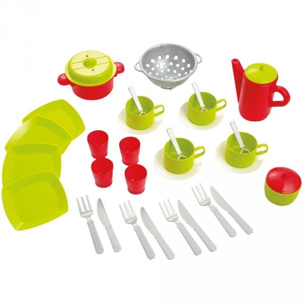 【JAKO-O】繽紛廚房玩具組(35件組) 扮家家酒,廚房遊戲,角色扮演,餐具