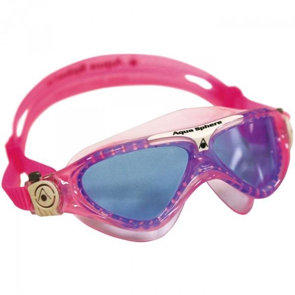 【JAKO-O】Aqua Lung 防霧游泳面鏡-桃紅 兒童,泳鏡,游泳