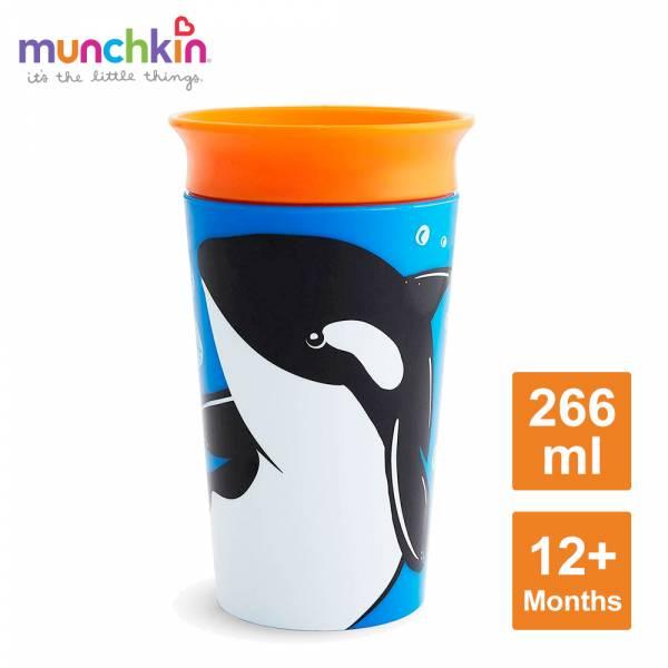 munchkin滿趣健-360度繽紛防漏杯266ml-虎鯨
