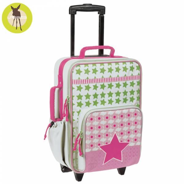 德國LASSIG天空星星兒童拉桿行李箱-花漾紅