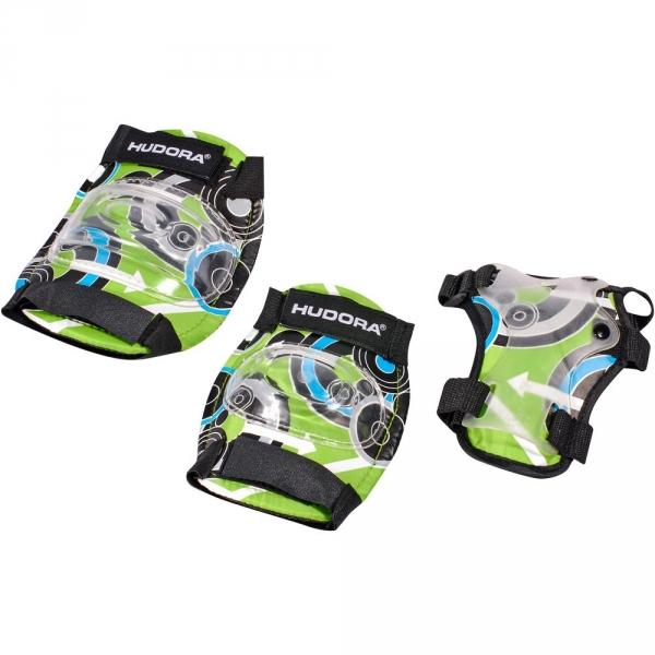 【JAKO-O】HUDORA迷彩護具套組-綠(S-M) JAKO-O,幼兒運動,護具,護膝,護肘,護腕,直排輪,滑板車,滑步車
