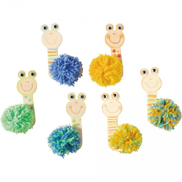 【JAKO-O】木頭創意手作組–蝸牛(6入) JAKO-O,兒童創意手作,親子關係,DIY,生活藝術,創意diy,親子