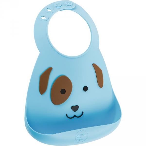 【JAKO-O】可愛造型矽膠圍兜兜-狗 圍兜兜,立體圍兜,矽膠圍兜,安全無毒,口水袋,德國,JAKO-O,新生兒,嬰幼兒,育兒