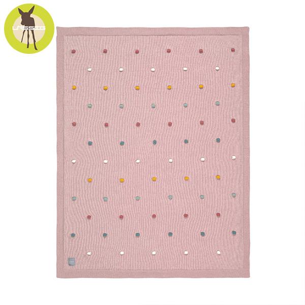 德國LASSIG-有機棉嬰兒毯-玫粉彩點 有機棉毯,德國lassig