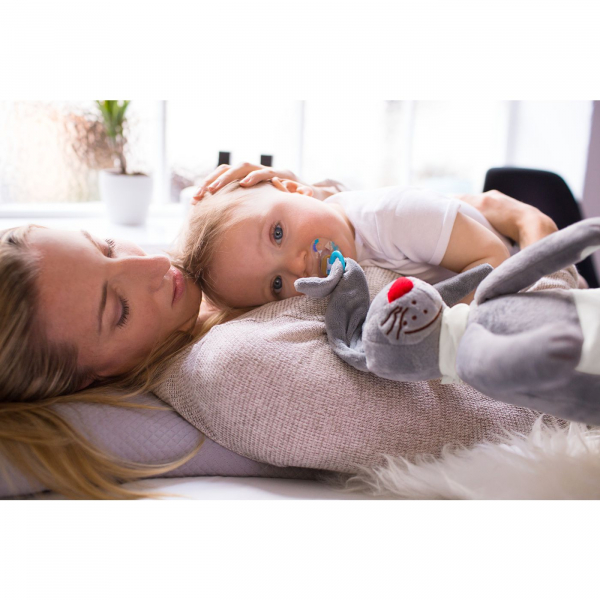 【JAKO-O】兔子玩偶-灰色 玩偶,安撫,玩具,抱枕