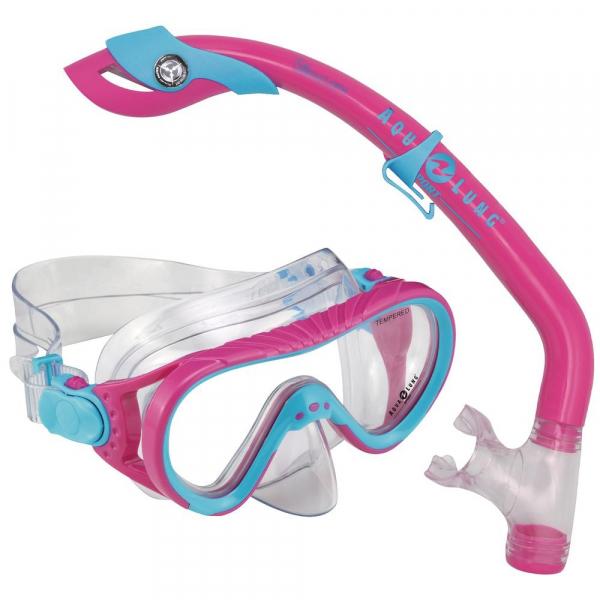 【JAKO-O】Aqua Lung浮潛面鏡組-粉 兒童浮潛,蛙鏡,游泳
