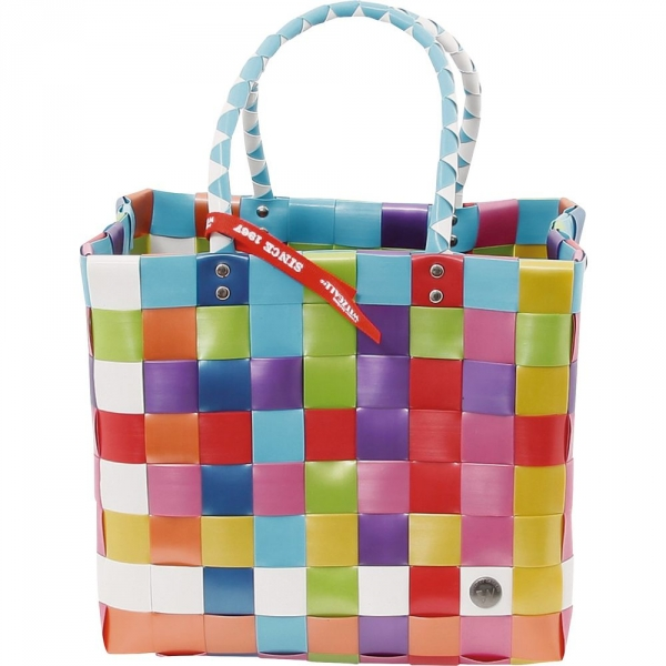【JAKO-O】繽紛編織提籃(大)–彩色 提籃,野餐籃,購物袋