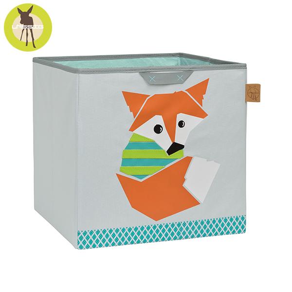 德國LASSIG-玩具儲物箱-小狐狸 玩具收納,德國lassig