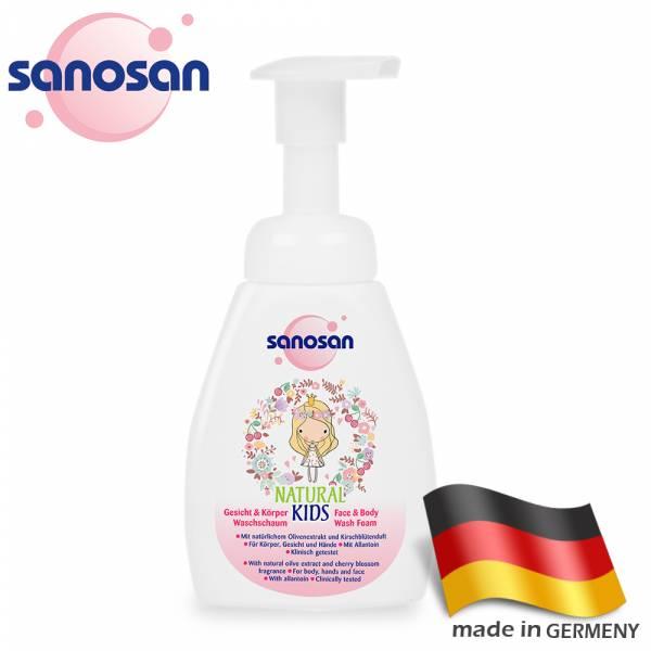 德國sanosan珊諾-天然櫻花香泡泡慕絲250ml