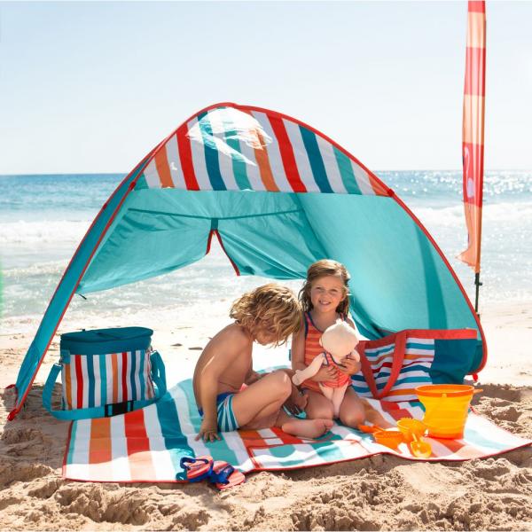【JAKO-O】JAKO-O 抗UV遮陽帳篷(粉嫩色) 海灘遮陽,抗UV,夏日,防曬,戲水,秒收,野餐,露營