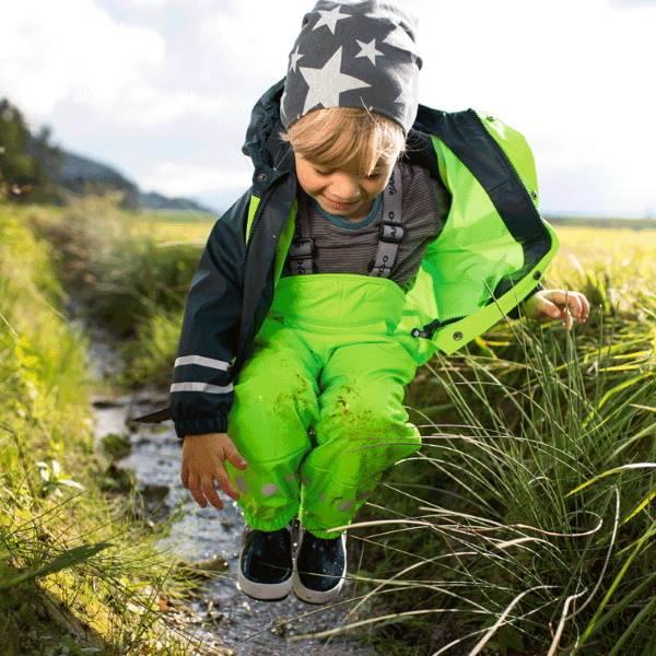 【JAKO-O】防潑水連身褲-亮眼綠 (兒童雨褲/防水褲) 幼童服飾,童裝,雨褲