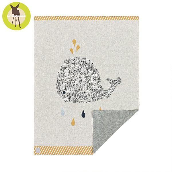 德國LASSIG-有機棉嬰兒毯-鯨魚 有機棉毯,德國lassig