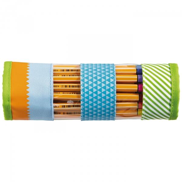 【JAKO-O】收納筆捲套-綠點點 (收納筆袋) 德國,JAKO-O,文具,筆袋