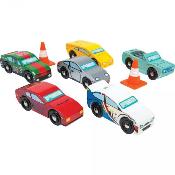 【JAKO-O】木製小汽車(6入) 汽車玩具,車輛玩具