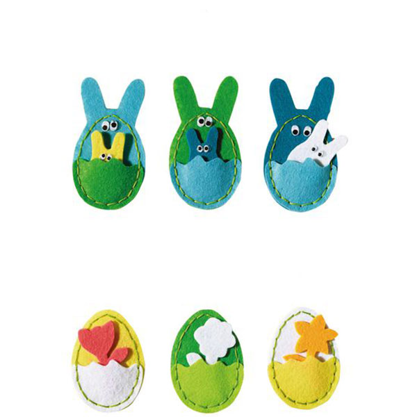【JAKO-O】創意毛氈手作組–蛋蛋口袋 兒童創意手作,親子關係,DIY,蛋蛋,復活節,兔兔