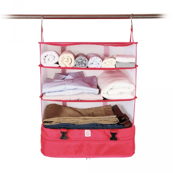 【JAKO-O】行李分層收納掛架(大)-粉色 置物架,架子